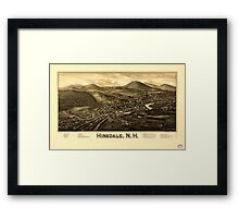 Panoramic Maps Hinsdale NH Framed Print