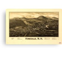 Panoramic Maps Hinsdale NH Canvas Print