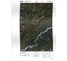 USGS Topo Map Washington State WA Kloochman Rock 20110503 TM Poster