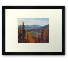 Italian Country View  Framed Print