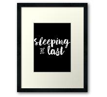 Sleeping at Last Framed Print