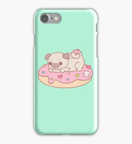 donut pug iPhone Case/Skin