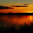 Stunning Sunset Over lake Burley Griffin Canberra by Kym Bradley