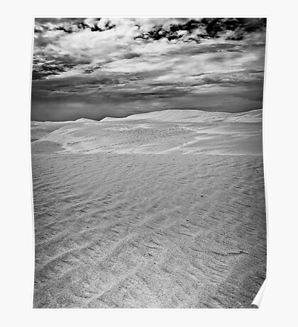 Dunes Under Stormy Skies Poster