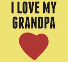 I Love My Grandpa Baby Tee