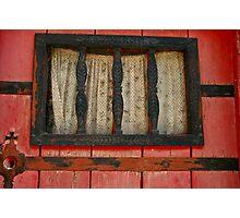 rustic window pane Photographic Print