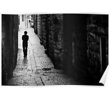 Jerusalem streets walker Poster