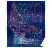 USGS Topo Map Oregon OR Portland 282796 1905 62500 Inverted Poster