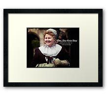 Mrs. Fitz Knit Bitz Framed Print
