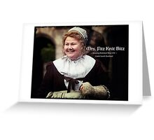 Mrs. Fitz Knit Bitz Greeting Card