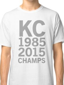 KC Royals 2015 Champions LARGE GRAY FONT Classic T-Shirt