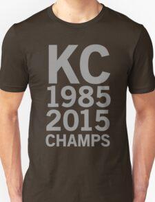 KC Royals 2015 Champions LARGE GRAY FONT Unisex T-Shirt