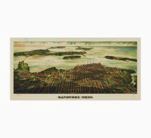 Panoramic Maps Sandusky Ohio One Piece - Long Sleeve