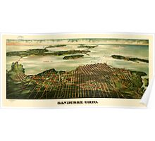Panoramic Maps Sandusky Ohio Poster