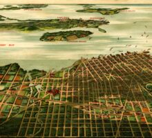 Panoramic Maps Sandusky Ohio Sticker