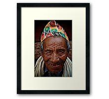 Nepali Elder Framed Print