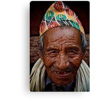 Nepali Elder Canvas Print