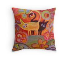 tails and cats Throw Pillow