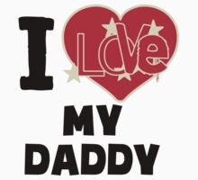 I Love My Daddy Kids Tee