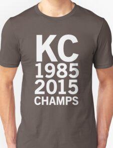 KC Royals 2015 Champions LARGE WHITE FONT T-Shirt