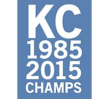KC Royals 2015 Champions LARGE WHITE FONT Photographic Print