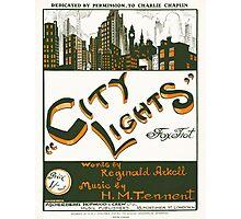 CITY LIGHTS (vintage illustration) Photographic Print