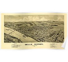 Panoramic Maps Belle Vernon Pennsylvania 1902 Poster