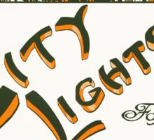 CITY LIGHTS (vintage illustration) Sticker