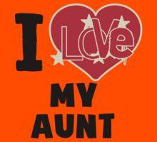 I Love My Aunt Kids Tee