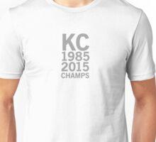 Kansas City Royals 2015 World Series Champs (gray font) Unisex T-Shirt
