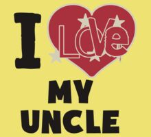 I Love My Uncle Baby Tee