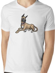Great Dane Mens V-Neck T-Shirt