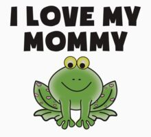 I Love My Mommy Frog Kids Tee