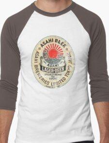 japanese beer Men's Baseball ¾ T-Shirt