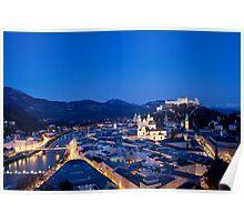 Blue Hour Salzburg Poster