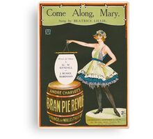 COME ALONG MARY (vintage illustration) Canvas Print