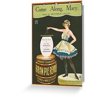 COME ALONG MARY (vintage illustration) Greeting Card