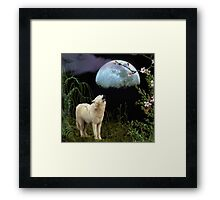 Shout at the Moon Framed Print