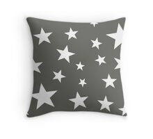Star Spangled Grey Night Throw Pillow