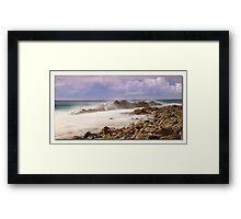 Misty Rocks Forster  Framed Print