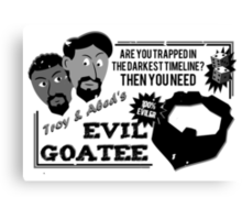 Evil Troy & Evil Abeard Canvas Print