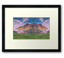 Asymmetrical and Impressionistic view landscape of Norway 04 11 2015 Framed Print