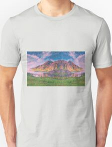 Asymmetrical and Impressionistic view landscape of Norway 04 11 2015 Unisex T-Shirt