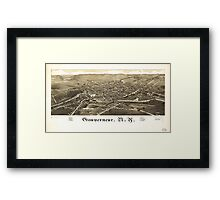 Panoramic Maps Gouverneur NY Framed Print