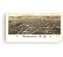 Panoramic Maps Gouverneur NY Canvas Print