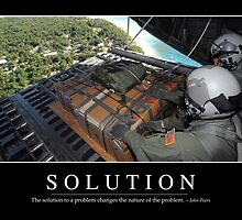 Solution: Inspirational Quote and Motivational Poster by StocktrekImages