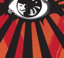 VENDETTA alternative movie poster eyeball print Sticker