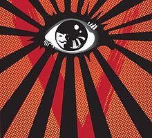VENDETTA alternative movie poster eyeball print by SFDesignstudio