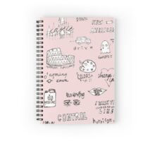halsey doodles Spiral Notebook