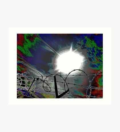"""""""Barbed Wire"""" Art Print"""